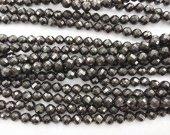 wholesale 2strands  4-12mm Nautral Jet Crystal Black Quartz Gemstone Round Ball faceted Jet GEM Necklace beads