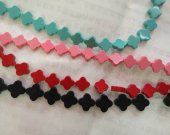 Wholesale 2strands 6 8 10 12mm Synthesize Turquoise Clove Fluorial  Pendants  Pink Red Turquoise Black  Carved  Turquoise  Beads
