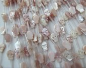 2strands 8-12mm  Genuine Mop Shell jewelry  Skull Skeleton pink red white black crystal  Shell beads shell earrings