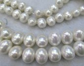 8-20mm full strand  Pearl Jewelry white  egg olive  red grey black mixd   Pearl beads jewelry Pearl necklace