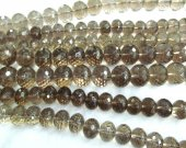 """AA+ Full strand 16"""" SMOKE Smoky QUARTZ Rondelle Bicone  faceted  Brown neutral classic Topaz Smoky beads 5x8\6x10\8x12\10x16mm"""