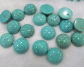High Quality 16\20\25mm Turquoise Cabochon Round  Stacking Ring  Jewelry Designer Handmade Handcut Turquoise Stone 12pcs