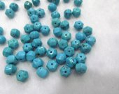 high quality  blue Turquoise gemstone hexagon faceted turquoise beads 8x10mm full strand 16inch