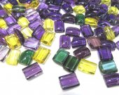 AAA Quality Raw rock  quartz  Amethyst -Citrine-Green-crystal  rectangle ABlong loose beads--double drilled--bracelet