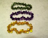 6x9mm Natural clear white quartz  Amethyst -Citrine-Green- Red crystal  drops teardrop briolettes micro faceted  bracelet 8inch AAA Quality