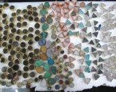 6sets 8-15mm Titanium Quartz Electroplated Quartz Titanium Quartz Rainbow Quartz, Crystal Nuggets,Freeform round triangle teardrop earrings