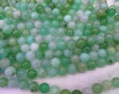 Genuine Chrysoprase  4-12mm 16inch Chrysoprase Round  Balls Beads- Chrysoprase Beads Chrysoprase gemstone necklace