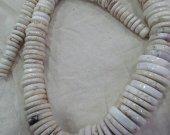 10-20mm 18inch Turquoise Gemstone Heishi Rondelle Pinwheel White Turquoise Necklace