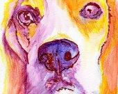 Beagle art print, Colorful Beagle dog art, beagle mom, Beagle dog portrait,Beagle gift ideas, Gift for Beagle owner, Beagle art print