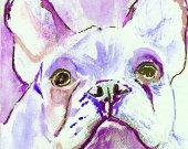French Bulldog print, Frenchie decor, Frenchie mom,  frenchie wall art, colorful french bulldog, wall hanging frenchie, frenchie art print
