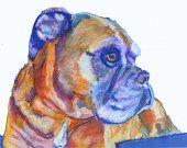 Boxer Dog wall art, boxer dog mom, boxer dog gift, boxer dog watercolor, boxer dog decor, Boxer dog owner, colourful Boxer dog art print
