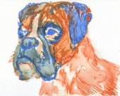 Boxer Dog gift, boxer dog wall art, boxer dog print, boxer dog, boxer dog mom, watercolor boxer dog, painting of Boxer Dog, Gift Boxer owner