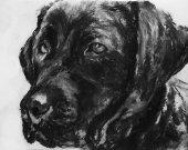 Labrador owner gift,Labrador art print,dog wall art,dog loss gift,loss of dog gift,black lab gift, lab wall art, dog lover gift,black lab.