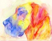 Great Dane Dog art print dog painting Giclee Print colorful modern art Great Dane gift idea Great dane watercolor painting Great Dane print
