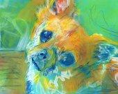 Chihuahua Painting,Chihuahua wall art print,Colorful watercolor dog art,dog portrait Chihuahua owner gift idea,Chihuahua wall art print