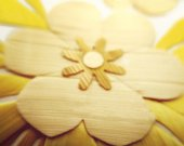 Wheat Straw Flower Card
