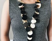 Handmade Natural Horn Beaded Necklace