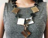 Handmade Natural Horn Geometrics Chain Statement Necklace
