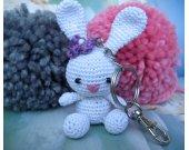 Amigurumi little rabbit keychain and bag charm