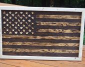 Wooden American Flag, USA Flag, Rustic style flag