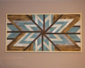 Wood Wall Art, Geometric Pattern, reclaimed wood sign, wood decor, woodart, wooden wall art, Chaotic patern