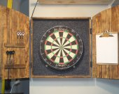 Dartboard Cabinet, rustic cabinet, barn style, darts, man cave