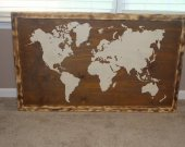 World map Wood Wall Art, Reclaimed wood, World map, Wood decor,