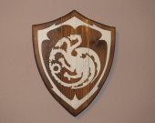 Game of Thrones Wood Wall Art, Reclaimed wood, house sigils, Wood decor,