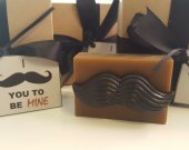 mustache soap bar - valentines day gift - valentines for him - valentines for dad - guys gift - husband gift - gift for boyfriend - men gift