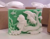 Mermaid dolphin soap bar - stocking stuffer for women - stocking stuffer for teen girls - stocking stuffer for her - gift for girls