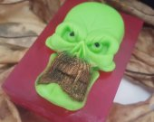 Skull soap bar - monster Halloween soap - Halloween decor soap - kids Halloween soap - Halloween party idea - creepy soap - Halloween treat