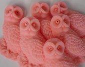 Woodland Wedding Favor - 50 pink Owl Soap - owl bridal shower favor - fall wedding favor decoration - owl soap favor - owl wedding favor