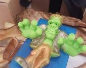 Frankenstein soap bar - monster Halloween soap - creepy soap - Halloween decor - Halloween treats - Halloween for kids - Halloween party