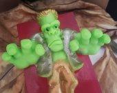 Frankenstein soap bar - monster Halloween soap - creepy soap - Halloween decor - Halloween treat - Halloween for kids - Halloween party soap