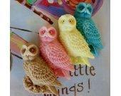 40 Owl Soap - baby shower favors - owl wedding favor - jungle birthday favor - animal baptism favors - kids party favor - jungle party favor