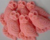 Woodland birthday Favor - 50 pink Owl Soap - owl sweet 16 favor - fall birthday decoration - owl soap favor - first birthday favor