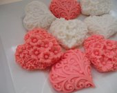 30 Heart Soap - heart baby shower favor, heart wedding favor
