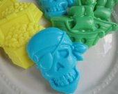 30 pirate soap favors - pirate birthday favors - baby shower favors - peter pan favors - pirate party favors - kids pirate theme favors