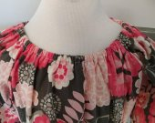 Floral Print Peasent Dress