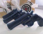 3 Police Gun Soap - hostess gift, gift for him