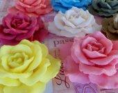 30 rose soap favors - rustic wedding favors - floral baby shower favors - garden birthday favors - flower bridal shower favors - rose favors