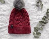 Winter Pom Pom Hat for Women, Knit Hat with Pom, Women Winter Hat, Slouch Beanie Hat with Pom, Warm Winter Hat, Wool Hat