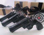 3 Police Gun Soap - christmas gift for man, christmas for guys, gift for men, black soap gun, stocking stuffer