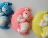 30 Bear in the Moon Soap - bear baby shower favor, bear birthday favor