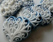 40 Heart Soap - navy blue wedding favors hearts - bridal shower  favors - bridal shower favors - birthday party favors - quinceanera favors
