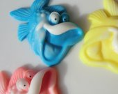 10 fish soap favors - red fish/blue fish baby shower favors - Dr. Seuss birthday favors - under the sea baby shower favors - fish soap favor