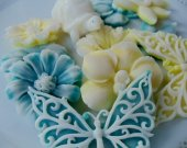 Butterfly, Turtles, Flowers Soap - gift for woman, hostess gift