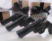3 Police Gun Soap - valentines gift for man, valentines for guys, gift for men, black gun soap