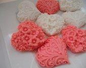 55 heart soap favors - heart baby shower favors - heart bridal shower favors - heart wedding favors - heart birthday favors - heart favors