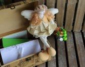 "Handmade author's Doll Angel Fairy dreams"" Interior doll Angel Original collectible angel doll Beige angel Toy angel"